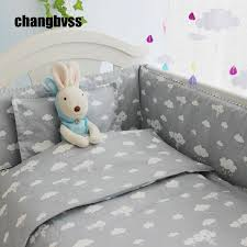 Baby Cot Bedding Sets New Arrivel Clouds Newborn Baby Cot Bedding Comfortable Baby Boy