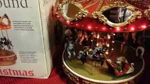 mr christmas mr christmas marquee merry go carousel