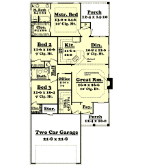 Home Floor Plans 1500 Square Feet Country Style House Plans 1500 Square Foot Home 1 Story 3