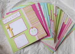 baby girl scrapbook album year scrapbook album 20 baby girl 12x12 premade pages
