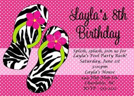 free printable zebra birthday party invitations free printable flip flop invitations invitations pool party