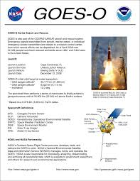 Event Fact Sheet Template Goes 14 Noaa Science Post Launch Test Plt