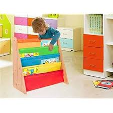 Children S Bookshelf Livivo Childrens Colourful Sling Storage Bookshelf Easy Access