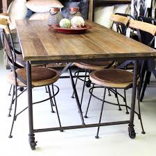 Dining Room Chairs With Wheels by Industrial Dining Room Chairs Rustic Industrial Dining Room Sets