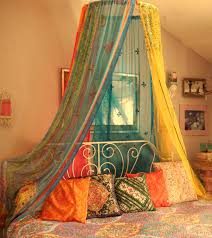 bedroom bohemian gypsy bed canopy balonsisters on etsy intended