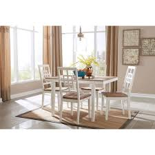 5 dining room sets signature design by brovada two tone 5 dining room