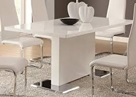 Amazoncom Coaster Home Furnishings Glossy White Contemporary - Amazon kitchen tables