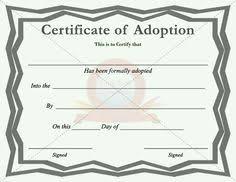 fake adoption certificate fake certificate pinterest