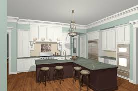 kitchen l shaped island casual parquet flooring and grey wall painting kitchen also