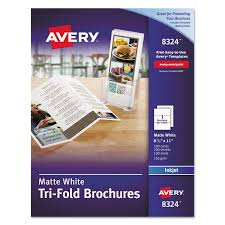 tri fold brochures for inkjet printers by avery ave8324