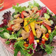 Garden Salad Ideas Mix Tuna Salad With Mango Vinaigrette Chicken Of The Sea