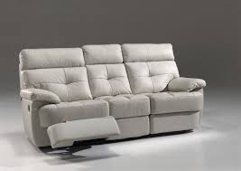 canapé cuir confortable 3 places confort électrique en cuir gris olive jupiter
