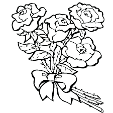 free valentines day coloring pages roses to color and print