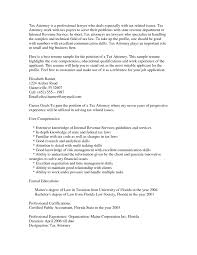 Sample Resume For Lawyers by Effective To Tax Attorney Resume In Word The Best Sample Resume