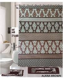 Bathroom Shower Curtain And Rug Set Check Out These Bargains On 18 Bath Rug Set Coffee Brown