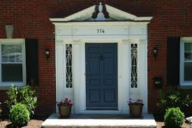 Blue House With Red Door Exterior Tempting Front Door Colors For Brick Houses Change The
