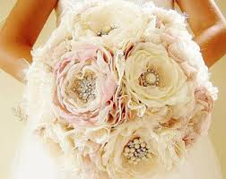 flower bouquet for wedding brooch bouquet etsy
