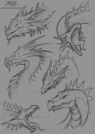 dragon head sketches by amorphisss on deviantart