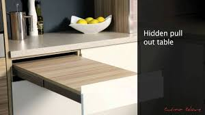 Mereway Kitchens Segreto Pull Out Table YouTube - Kitchen pull out table