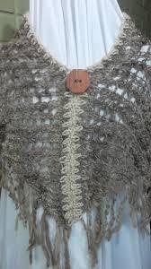 ponchos a palillo ponchos 100 lana natural tejidos carly