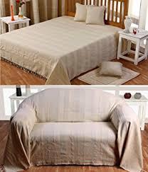 grand jeté de canapé homescapes jeté de lit ou jeté de canapé naturel 230x260cm