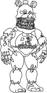 fnaf coloring pages nightmare coloring