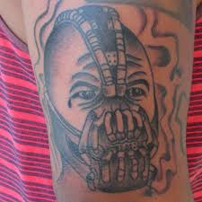 bane tattoo the dark knight rises tattoo tattoo portrait