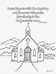 coloring pages of a church kids coloring