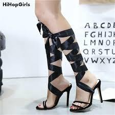 ribbon heels hihopgirls summer women high heels sandals party pumps