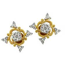 real gold earrings bling traditional fancy flower earrings made with real gold