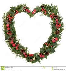 White Heart Christmas Decorations heart shaped christmas wreath stock photography image 33420302