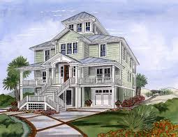 beach house plan with cupola 15033nc architectural designs