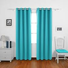 Torquoise Curtains Deconovo Thermal Insulated Blackout Curtains 2 Panels