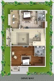 villa plan myans villas type a west facing villas