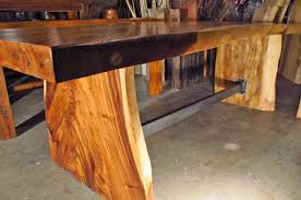wood slab table legs large 8 long natural edge monkeypod wood dining table benches w