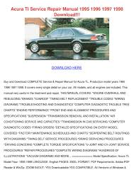 acura tl service repair manual 1995 1996 1997 by feliciadailey issuu