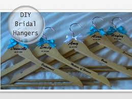 personalized wedding hangers diy personalised wedding bridal hangers