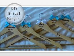 personalized wedding hangers diy personalised wedding bridal hangers
