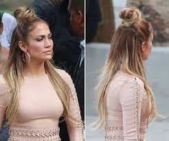 jlo hairstyle 2015 jennifer lopez s half up half down hair on idol hollywood life
