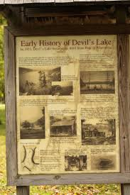 when was the first house built wisconsin historical markers early history of devil u0027s lake