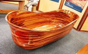 wooden bathtub a 30k wood bathtub corian other seattle home show stars