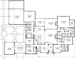 4 Bedroom Single Story Floor Plans French Country Style House Plans 4000 Square Foot Home 1 Story