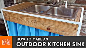 Outdoor Kitchen With Sink How To Make An Outdoor Kitchen Sink I Like To Make Stuff
