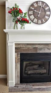 Porcelain Tile Fireplace Ideas by Best 25 Distressed Fireplace Ideas On Pinterest Fireplace Redo