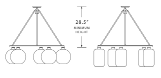 hanging picture height how high or low to hang a modern glass chandelier