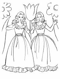 coloring pages girls hand embroidery girls