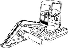 excavator mini excavator hitachi ex50u coloring page wecoloringpage