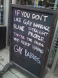 Gay Marriage Memes - funny gay marriage signs and memes