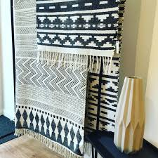 Cheap Southwestern Rugs Inka Black U0026 White Rug Over Large Natural Block Print Rug 230 X