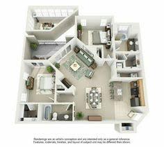 3 Bedroom Apartment Floor Plan 50 Three U201c3 U201d Bedroom Apartment House Plans Open Floor 3d And